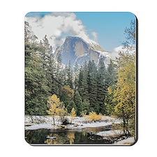 Autumn Mountain & River Scene Mousepad
