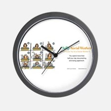 Sally Social Worker doing more paperwor Wall Clock