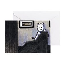 Whistler's Westie Greeting Card