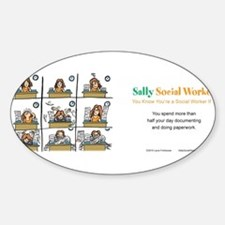 Sally Social Worker doing more paperwork t Decal