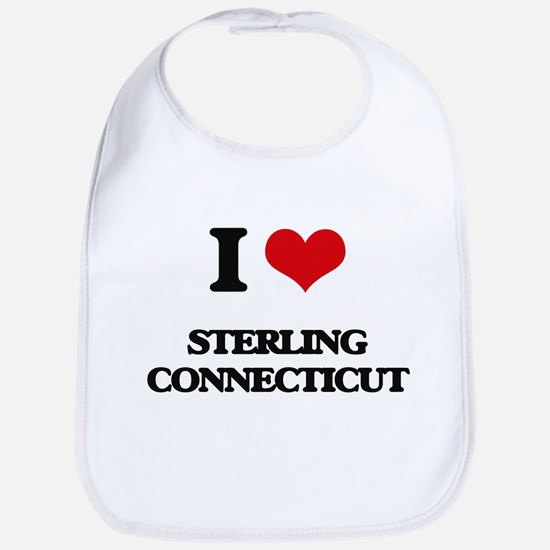 I love Sterling Connecticut Bib