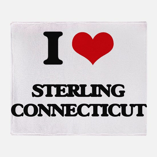I love Sterling Connecticut Throw Blanket