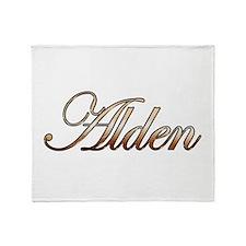 Gold Alden Throw Blanket