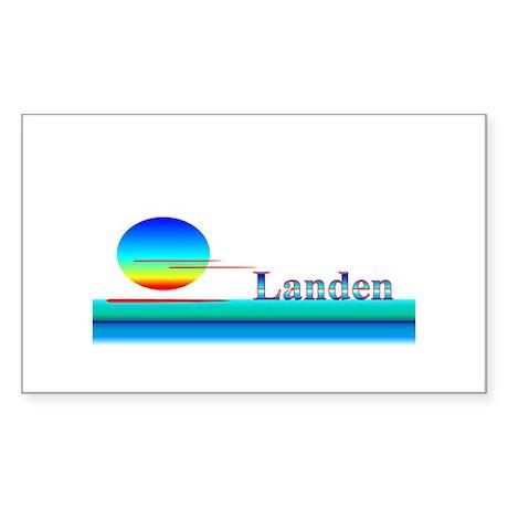 Landen Rectangle Sticker