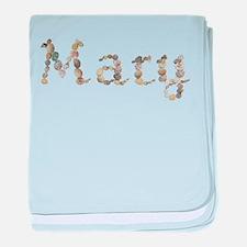 Mary Seashells baby blanket