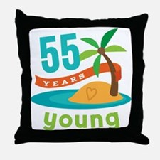 55th Birthday (Hawaiian) Throw Pillow