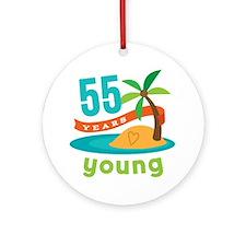 55th Birthday (Hawaiian) Ornament (Round)
