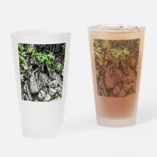 Rocks, Roots and Leaves Drinking Glass
