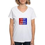 'Major League Support' Women's V-Neck T-Shirt