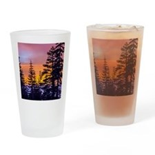 Evergreen Sunset Drinking Glass