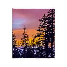 Evergreen Sunset Throw Blanket