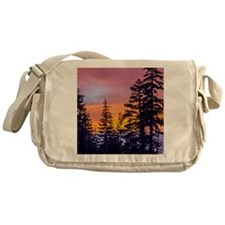 Evergreen Sunset Messenger Bag