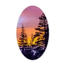 Evergreen Sunset Wall Decal