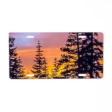 Evergreen Sunset Aluminum License Plate