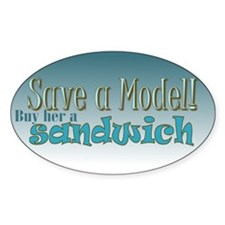 Model Save Oval Decal