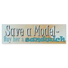 Model Save 2 Bumper Bumper Sticker