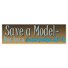 Model Save Bumper Bumper Sticker