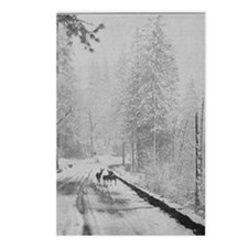 Deer on a Snowy Mountain Postcards (Package of 8)