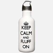 Keep Calm and Fluff ON Sports Water Bottle