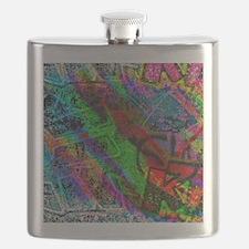 Colorful allover Graffiti Flask