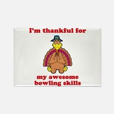 Bowling Skills Rectangle Magnet