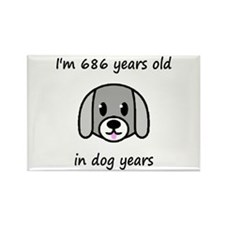 98 dog years 2 - 2 Magnets