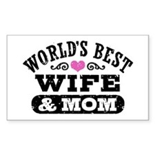 World's Best Wife & Mom Decal
