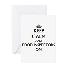 Keep Calm and Food Inspectors ON Greeting Cards