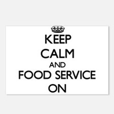 Keep Calm and Food Servic Postcards (Package of 8)