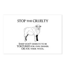 Sheep Cruelty Postcards (Package of 8)