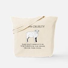 Sheep Cruelty Tote Bag