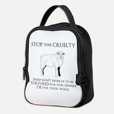 Sheep Cruelty Neoprene Lunch Bag
