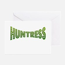 huntress female hunter gifts Greeting Cards (Pk of