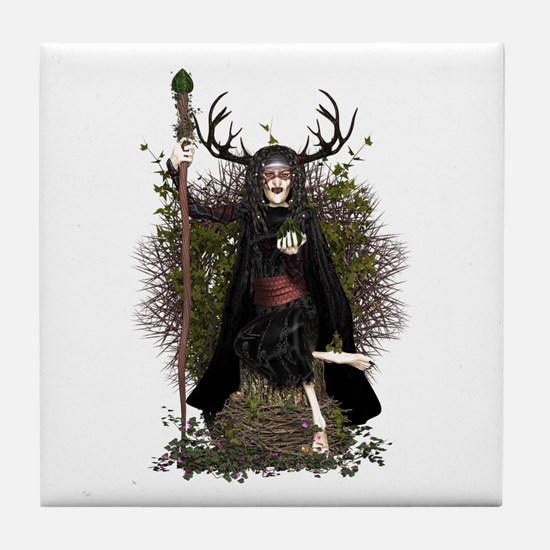 Hedge Witch ~ Hetty Tile Coaster