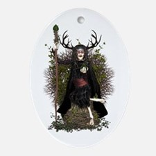 Hedge Witch ~ Hetty Ornament (Oval)