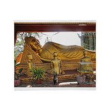 Golden Buddha Throw Blanket