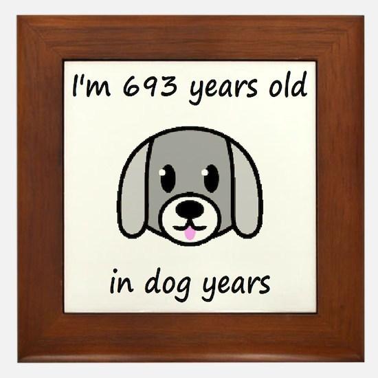 99 dog years 2 - 2 Framed Tile