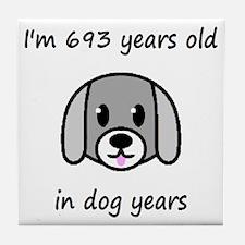 99 dog years 2 - 2 Tile Coaster