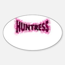 For the female hunter this wo Oval Decal