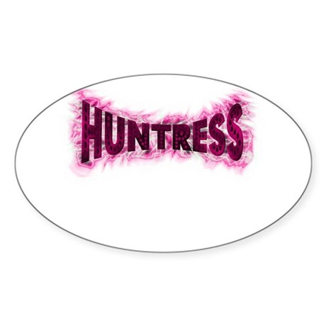 For the female hunter this wo Oval Sticker