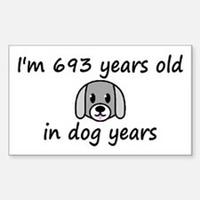 99 dog years 2 - 3 Decal