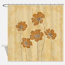 Baroque scheme floral Shower Curtain