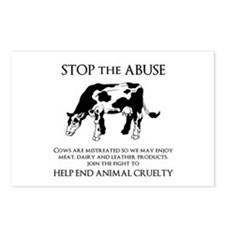 Cow Abuse Postcards (Package of 8)