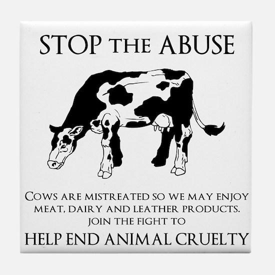 Cow Abuse Tile Coaster