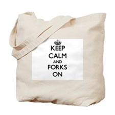 Keep Calm and Forks ON Tote Bag