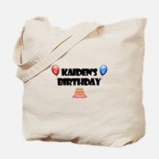 Kaiden's Birthday Tote Bag