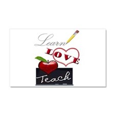 Learn-Love-Teach Car Magnet 20 x 12