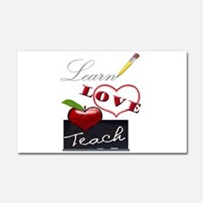 Learn-Love-Teach Car Magnet 20 x 12