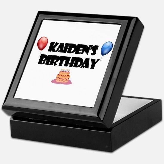 Kaiden's Birthday Keepsake Box