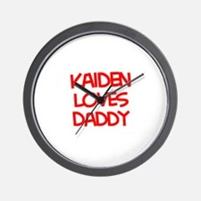Kaiden Loves Daddy Wall Clock
